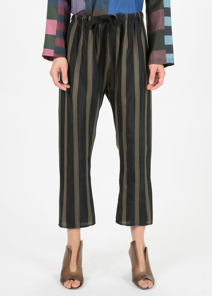 Striped Cupro Pants