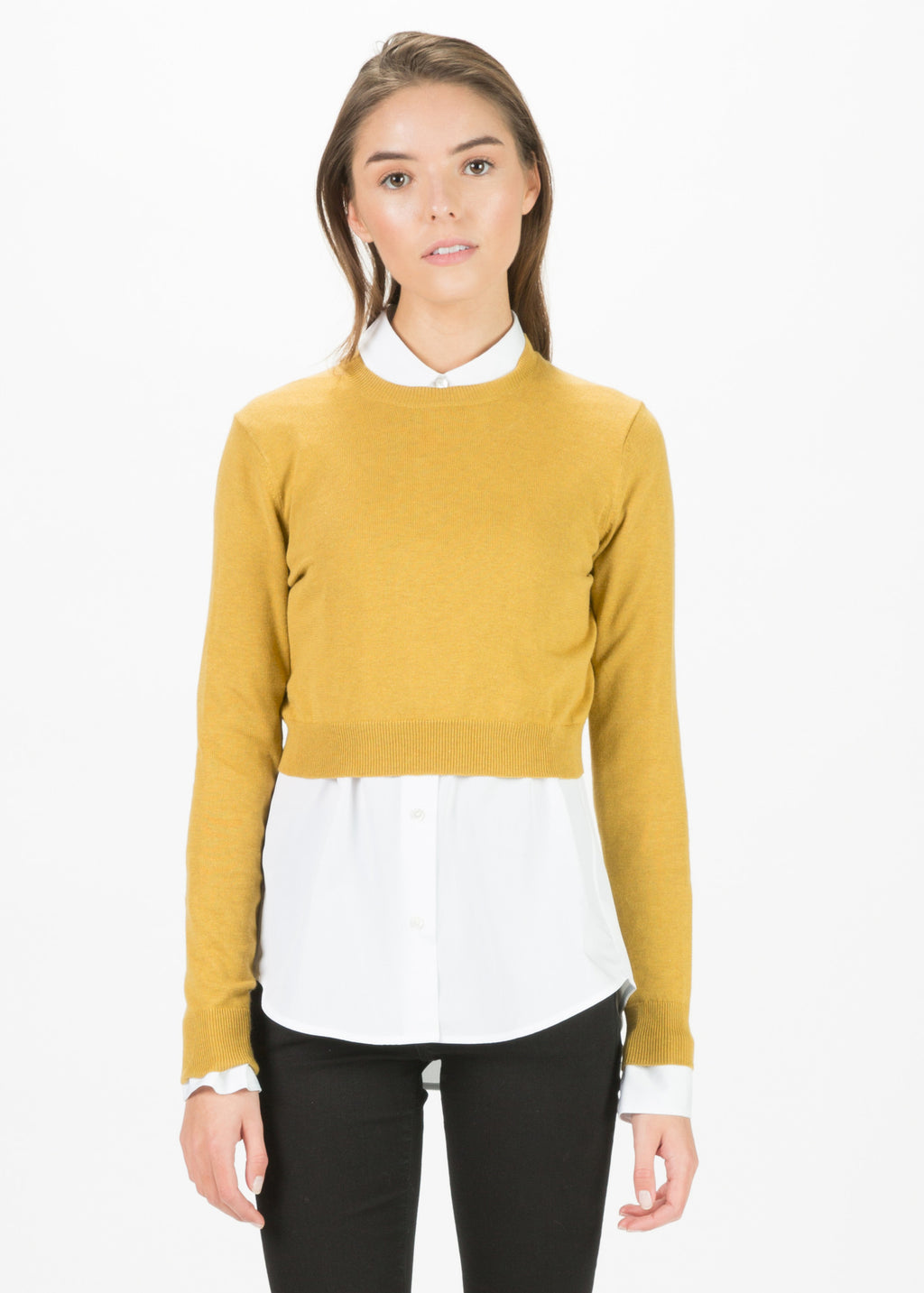 Cropped Cotton Pullover