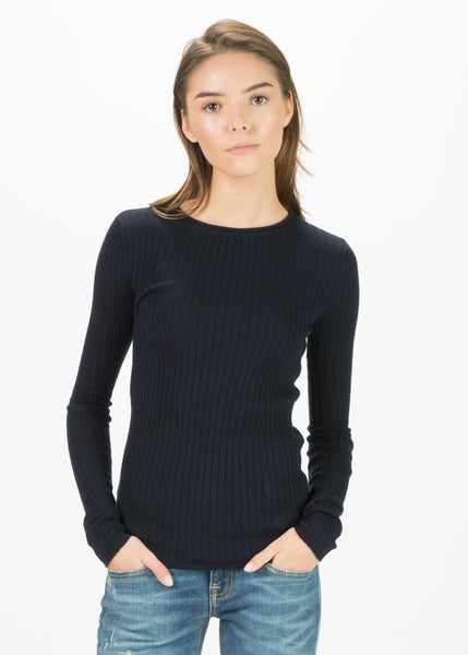 Long Sleeve Ribbed Pullover