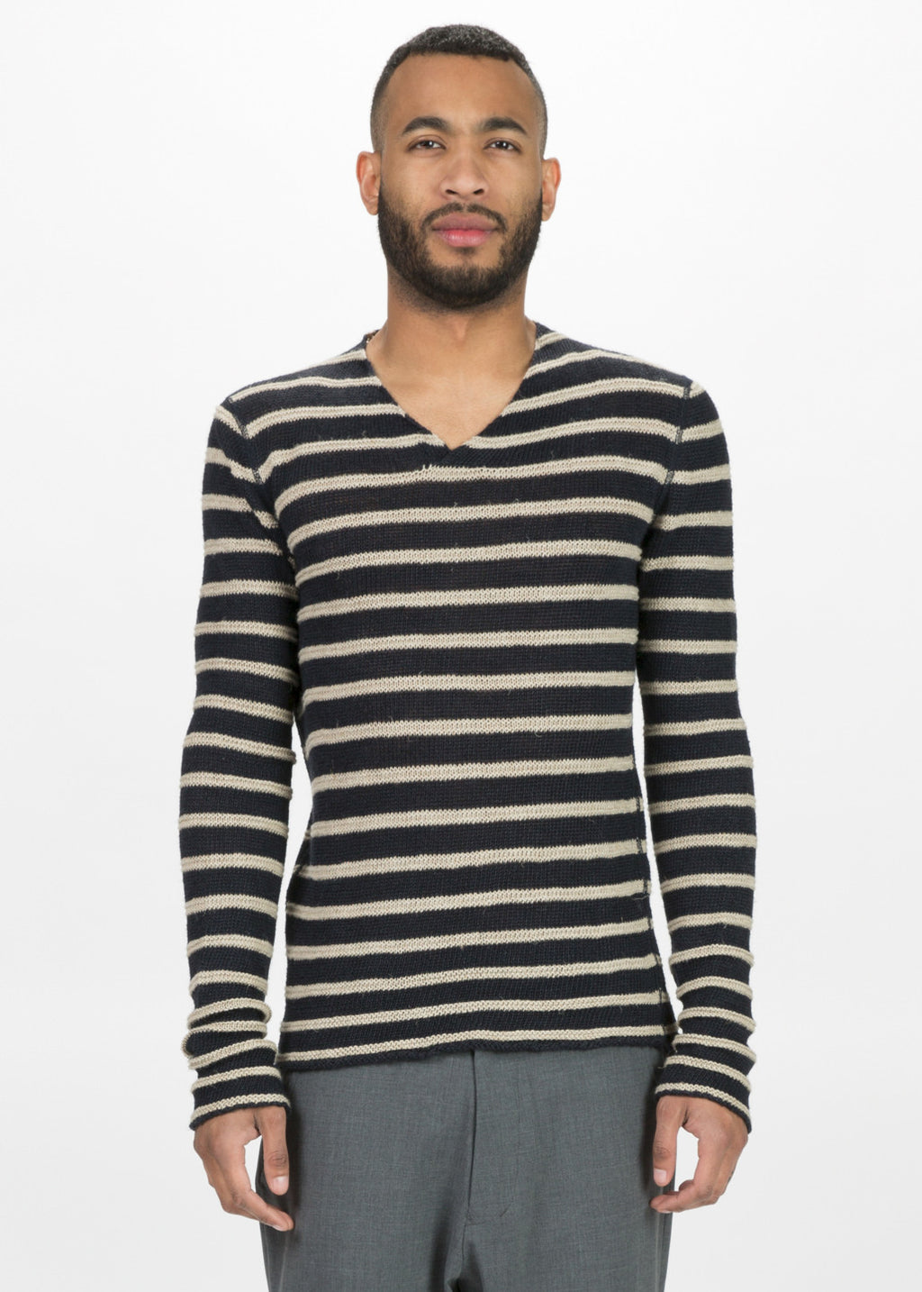 Hannes Roether Men's Zilk Knit V-Neck Sweater