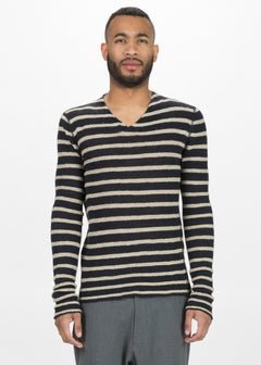 Zilk Knit V-Neck Sweater