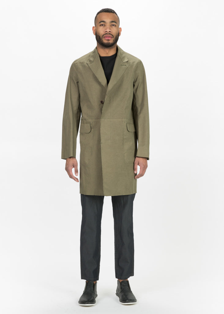 Raw Edge 3/4 Length Coat