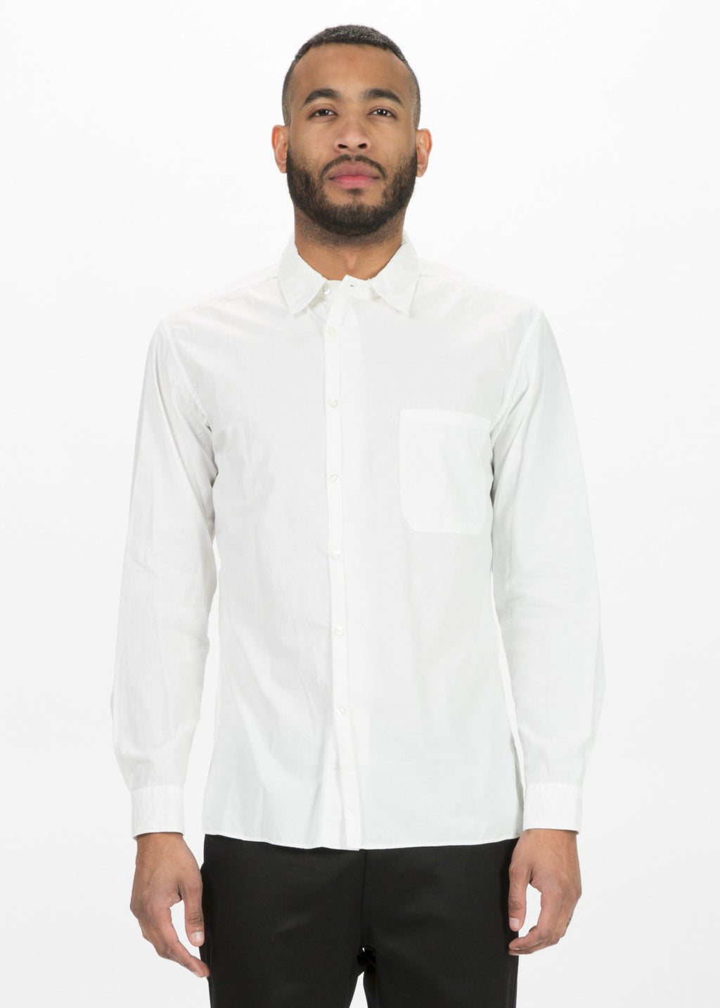 Off-Center Button Up Shirt