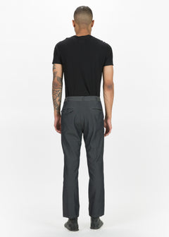Flat-Front Creased Trousers