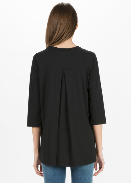Linda Back-Pleat Tee