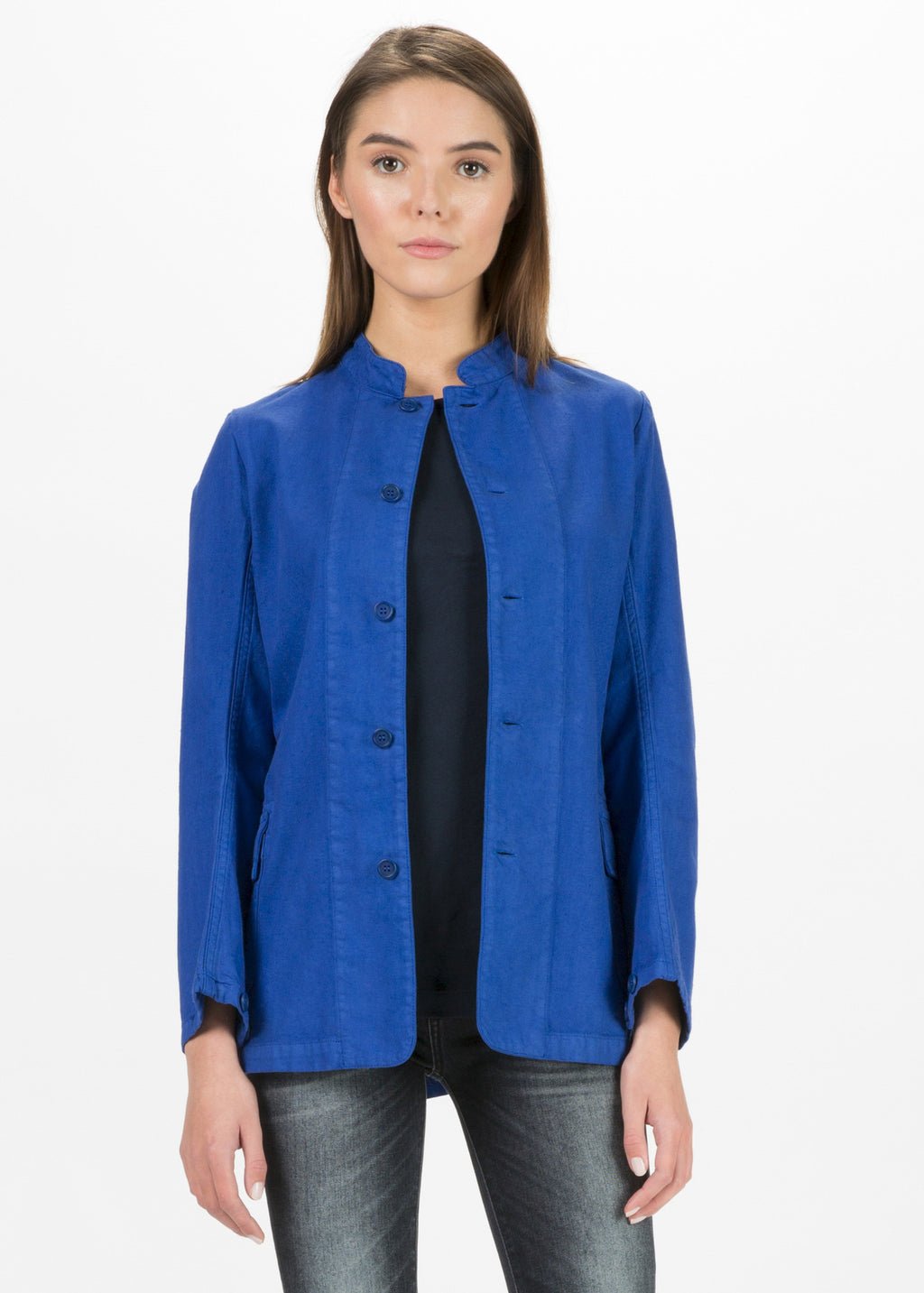 Pina Mandarin Collar Jacket