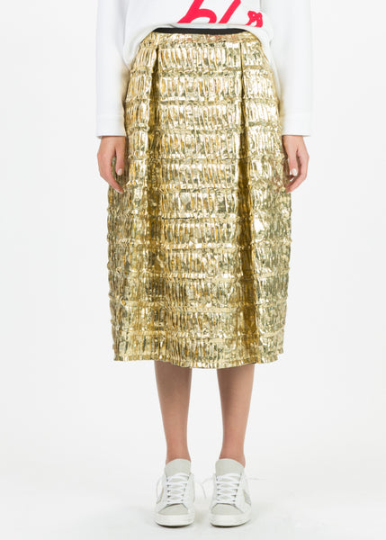 Shimmer Pleat Skirt