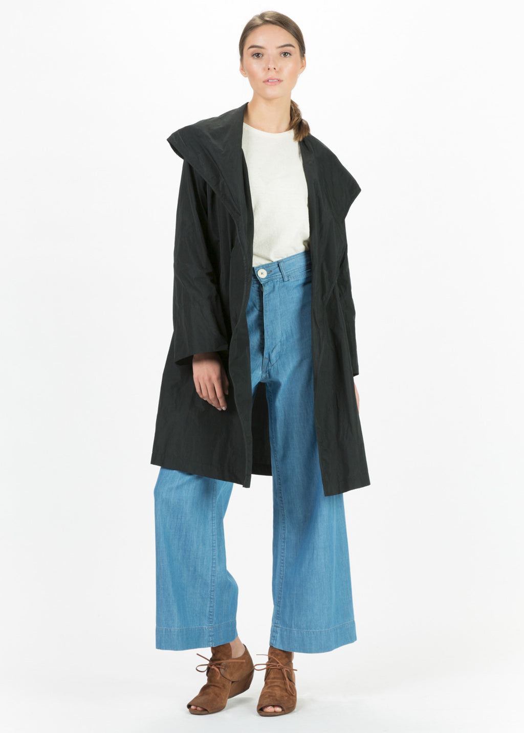 Oversize Lapel Open Coat