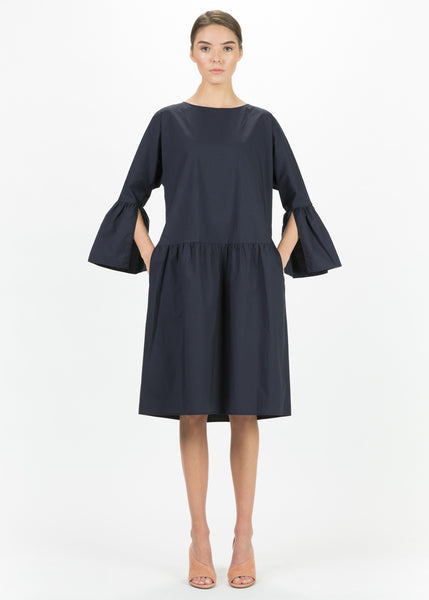 Cotton Bell Sleeve Dress