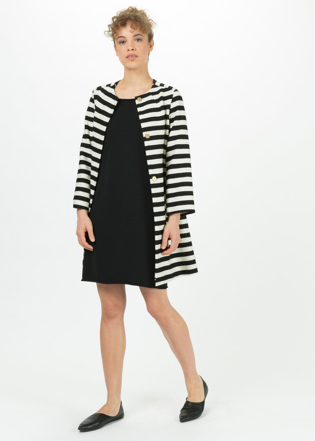Striped Mod Coat