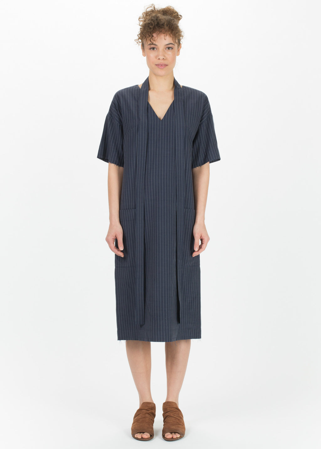 Pinstripe Kandan Dress