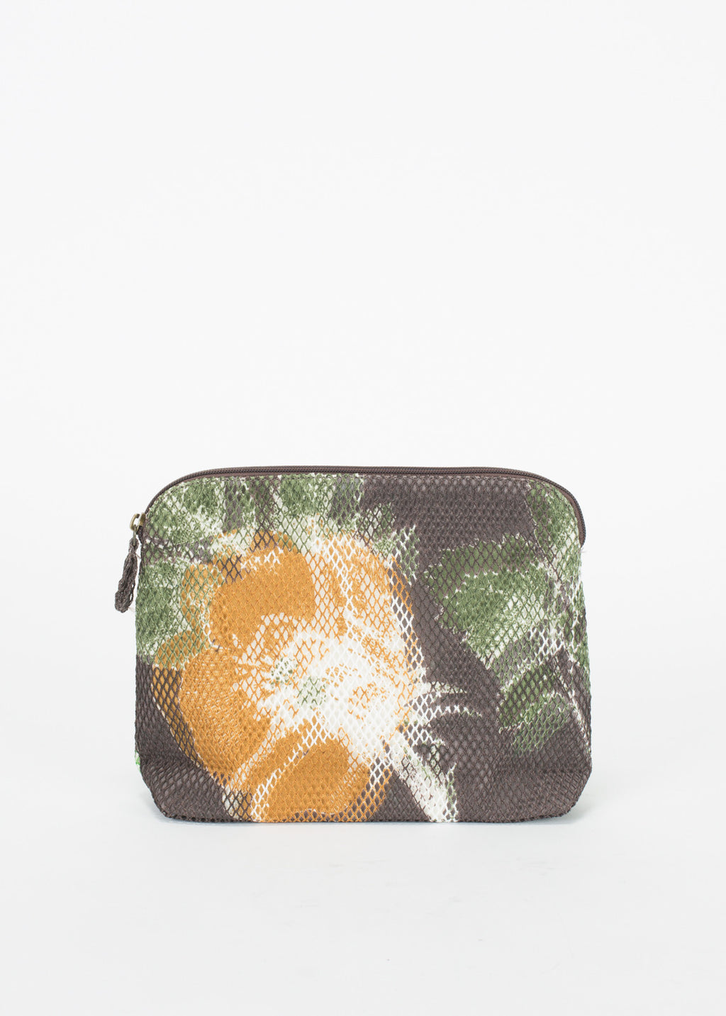 Canvas and Mesh Flower Clutch