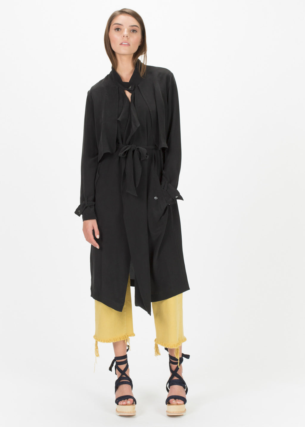 Sean Silk Robe Coat