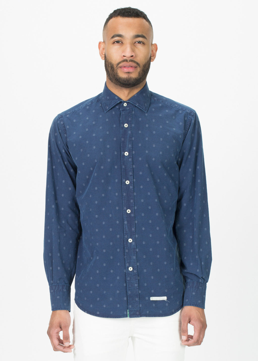 Washed Causal Button-Up Shirt