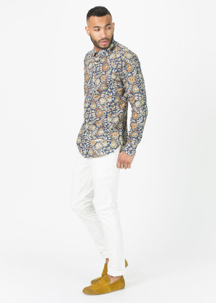 Bramble Print Button-Up Shirt