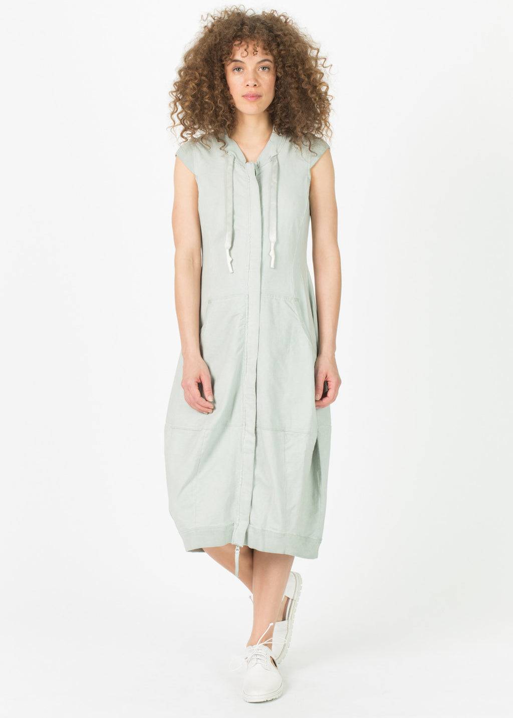 Sleeveless Zip Bubble Dress