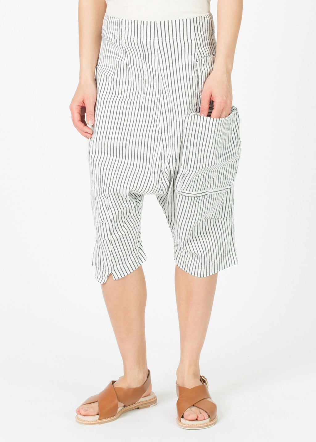 Drop Crotch Four Pocket Short