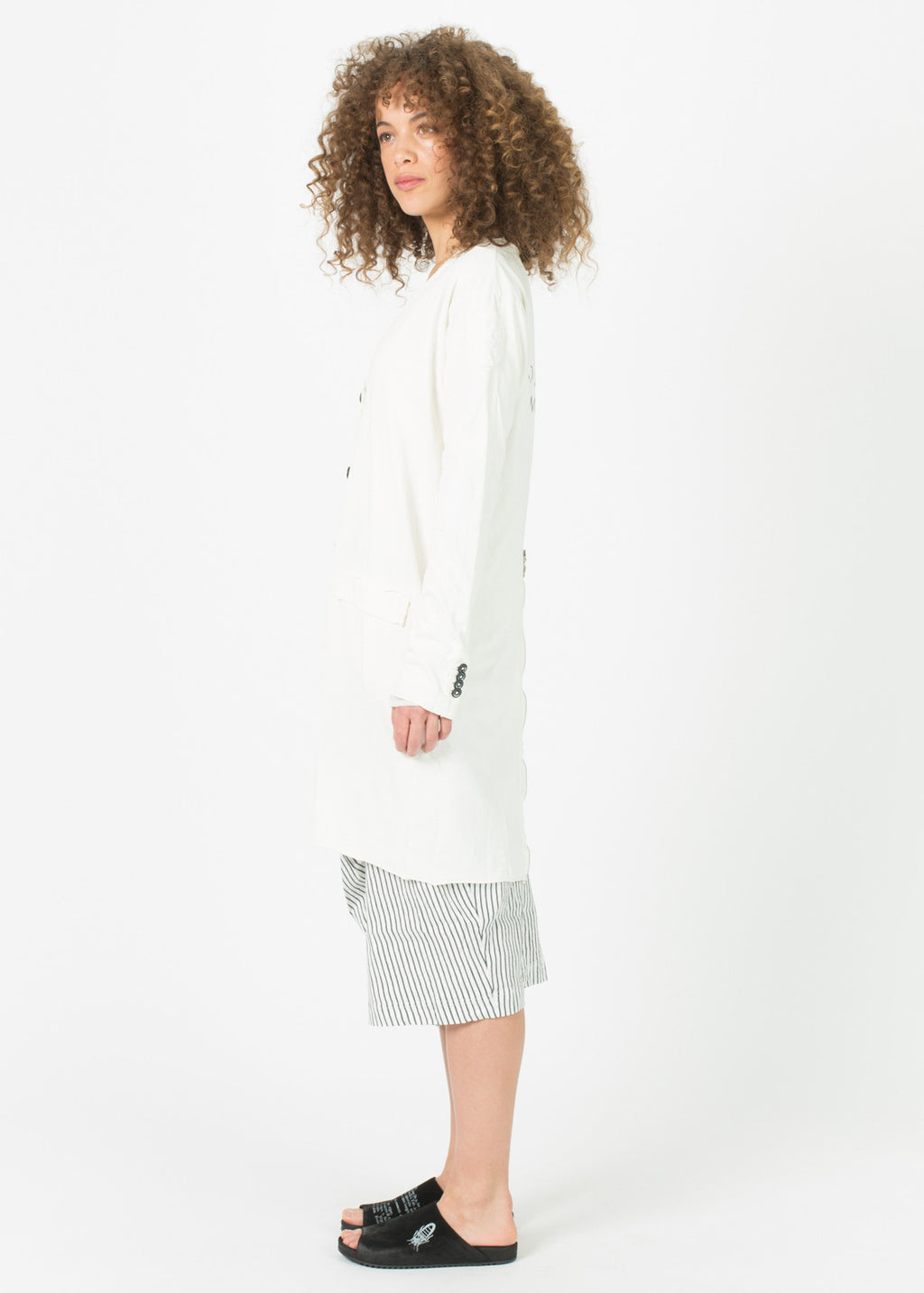 Back-Zip Jersey Coat