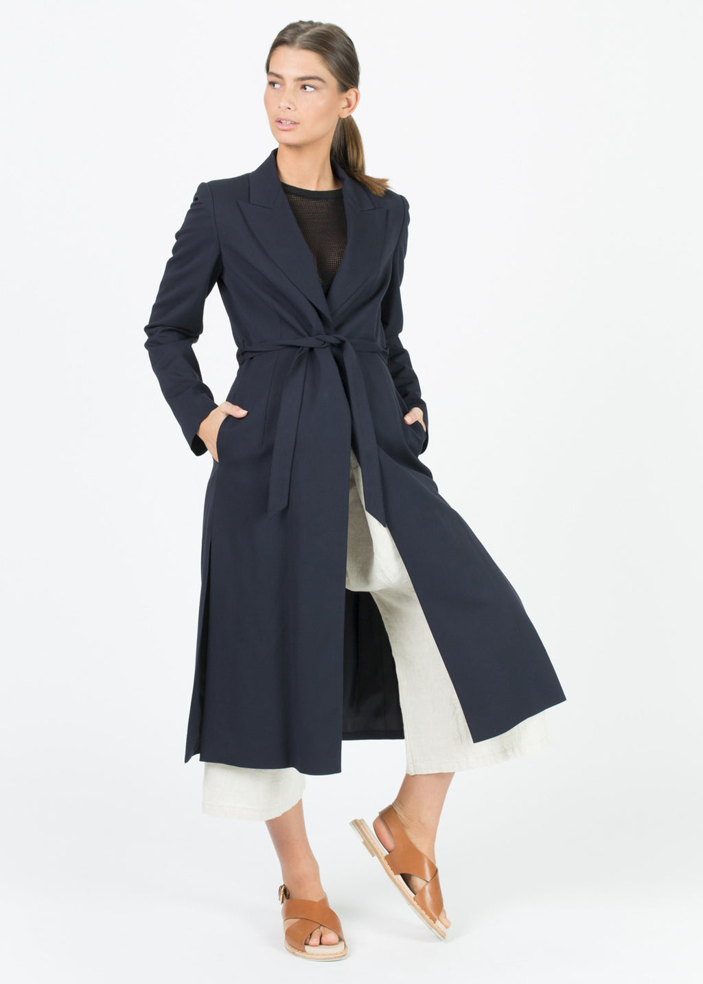 Viscose Tie Trench