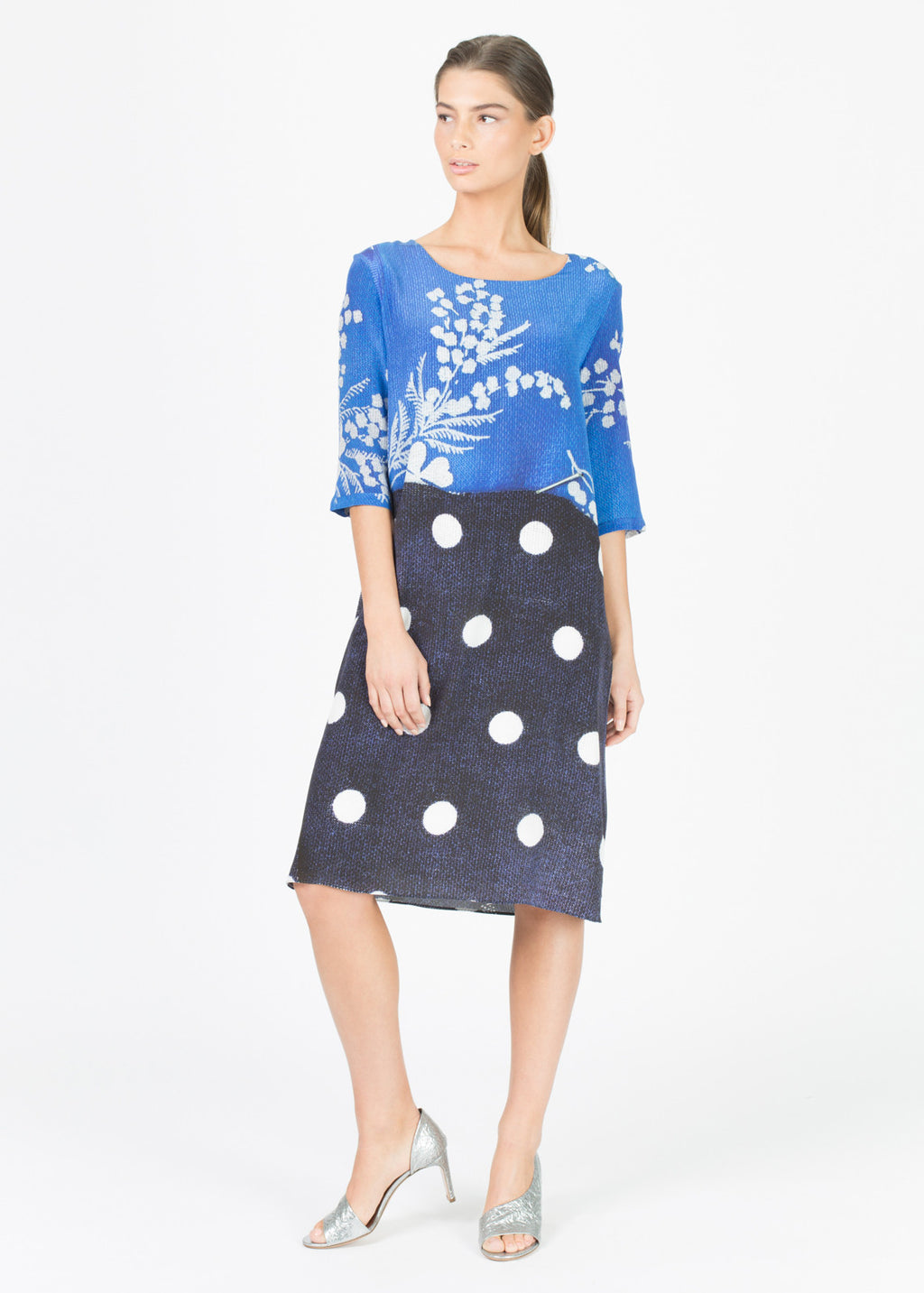 Dot Skirt Blossom Dress