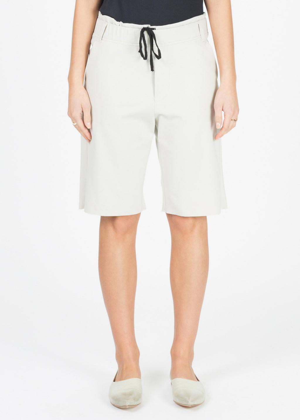 Viscose Blend Drawstring Short