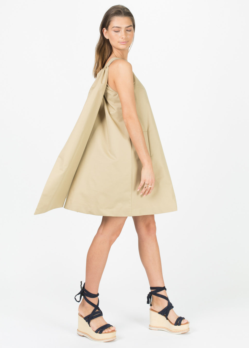 Back Bow Cotton Dress
