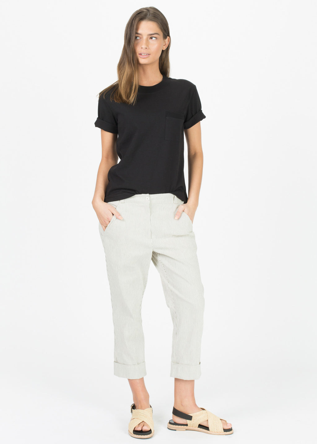 One Pocket Mock-Neck Tee