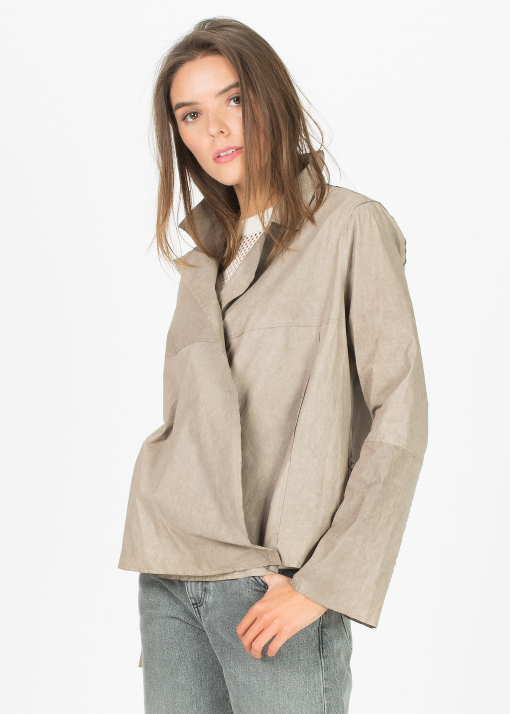 Vibi Leather Blouse