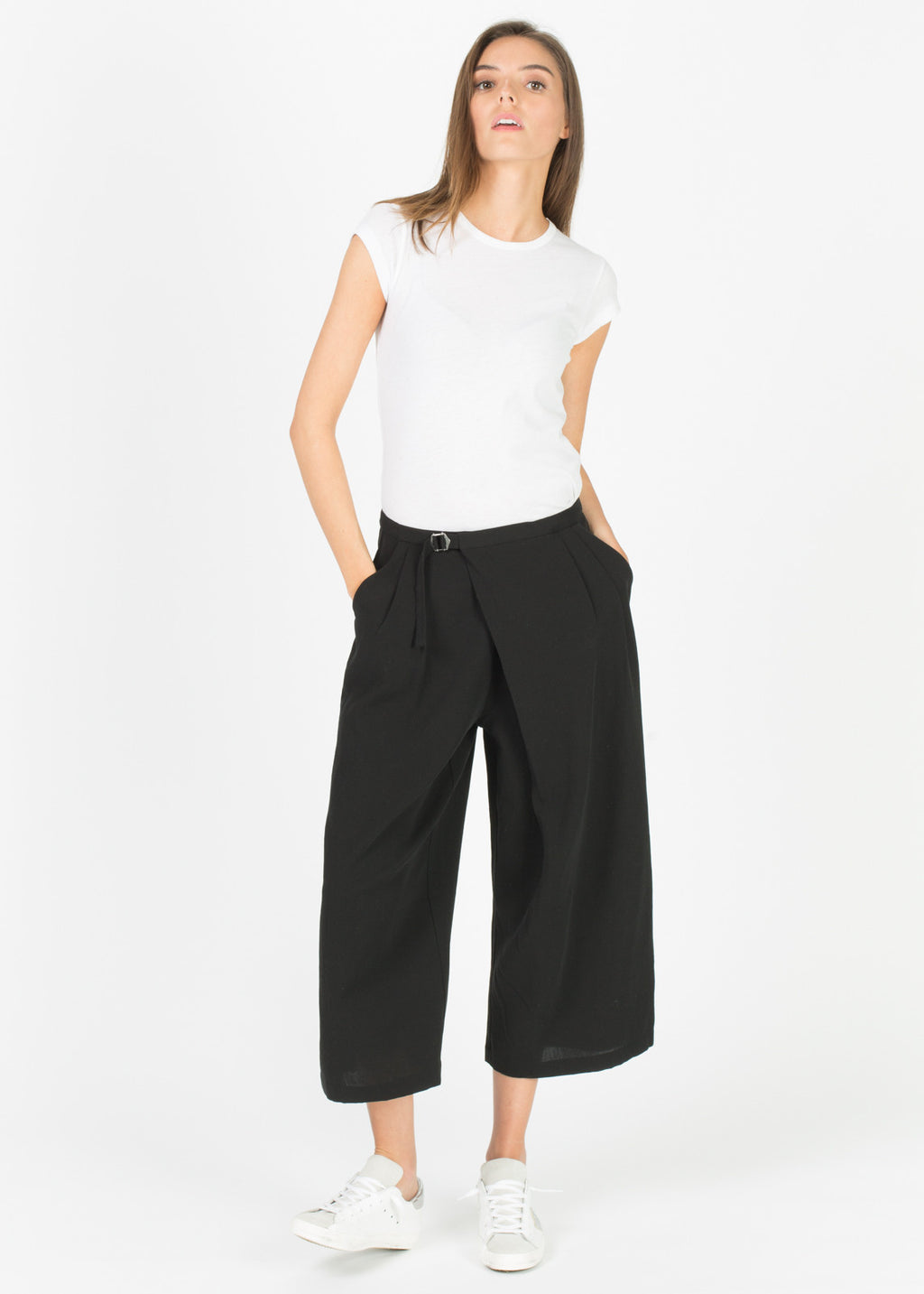 Double Cloth Wrap Pant