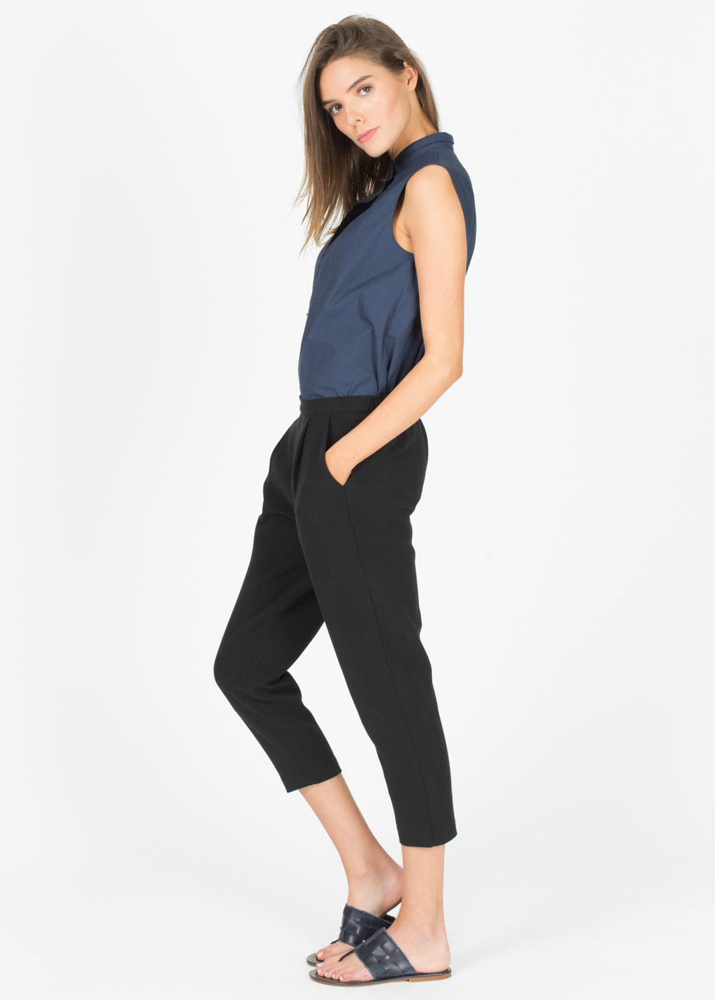 Double Cloth Tuck Pants