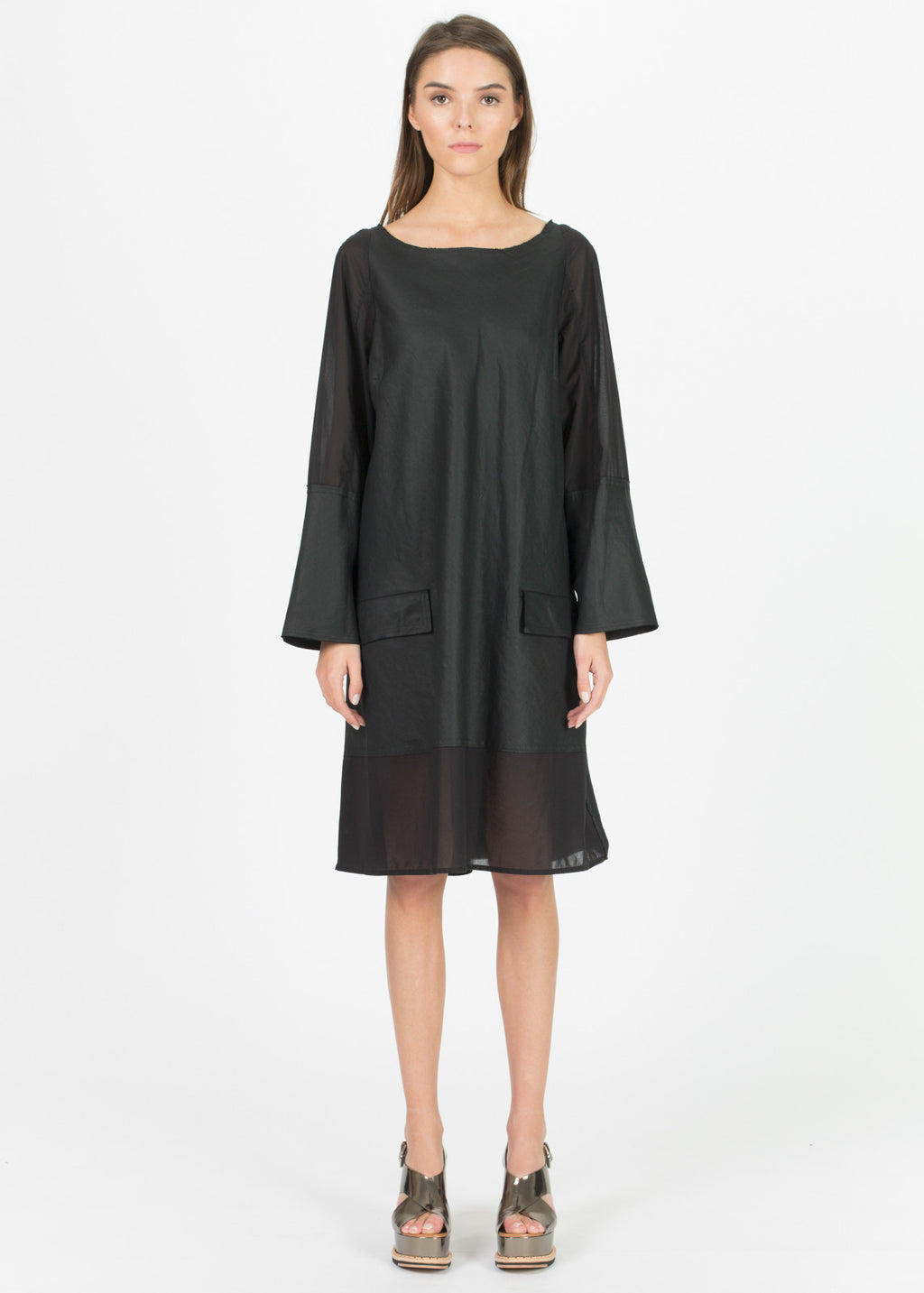Evina Long Sleeve A-Line Dress