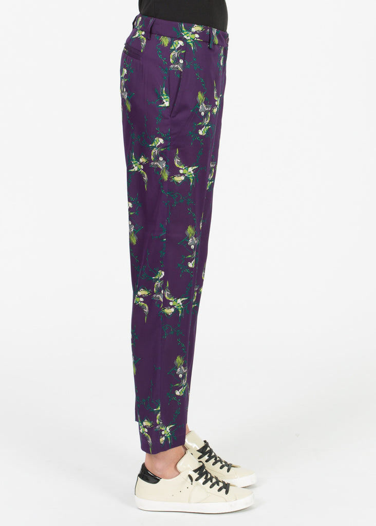 Straight Leg Silk Trouser