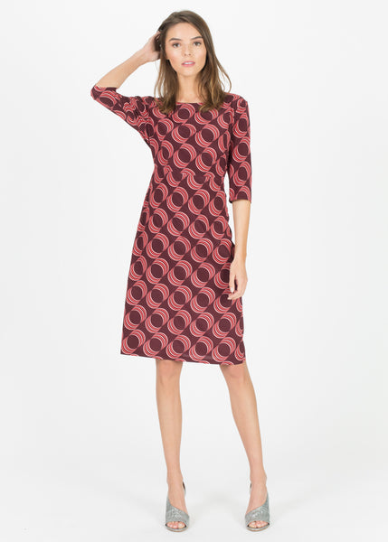 3/4 Sleeve Silk Dress