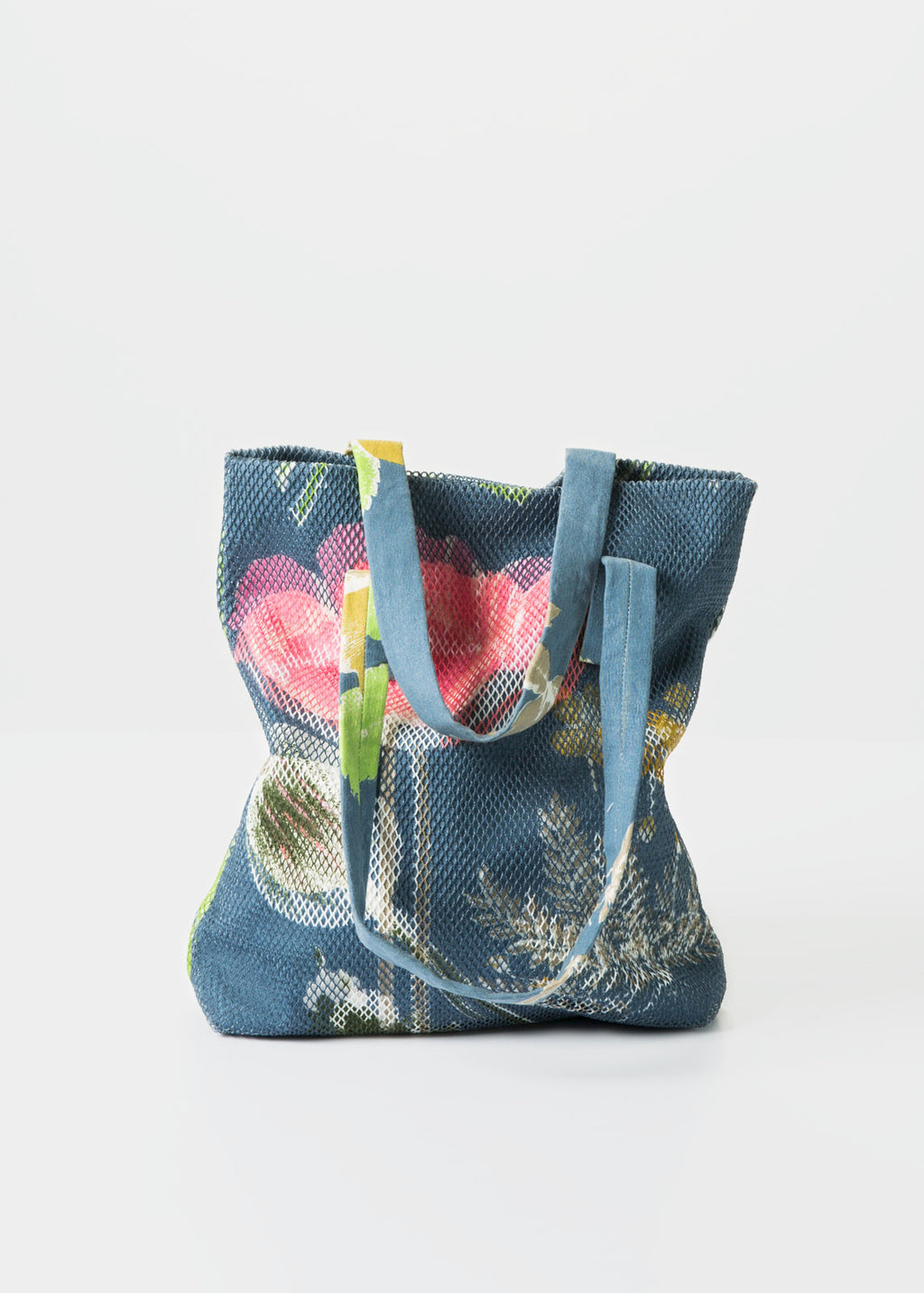 Canvas and Mesh Flower Tote