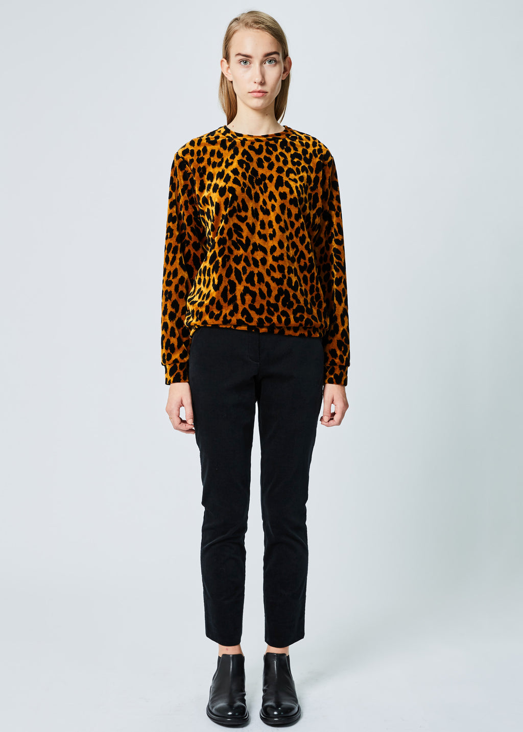 Leopard Back-Zip Top