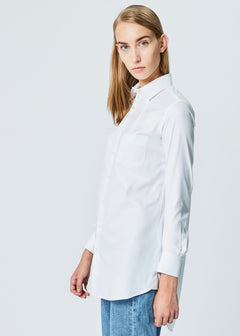Snow Sateen Cocoon Shirt