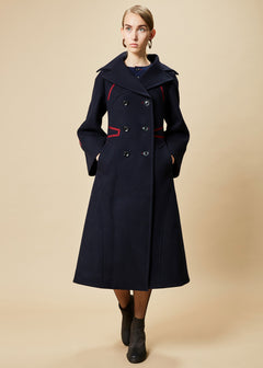 Double Breasted Wool Trench
