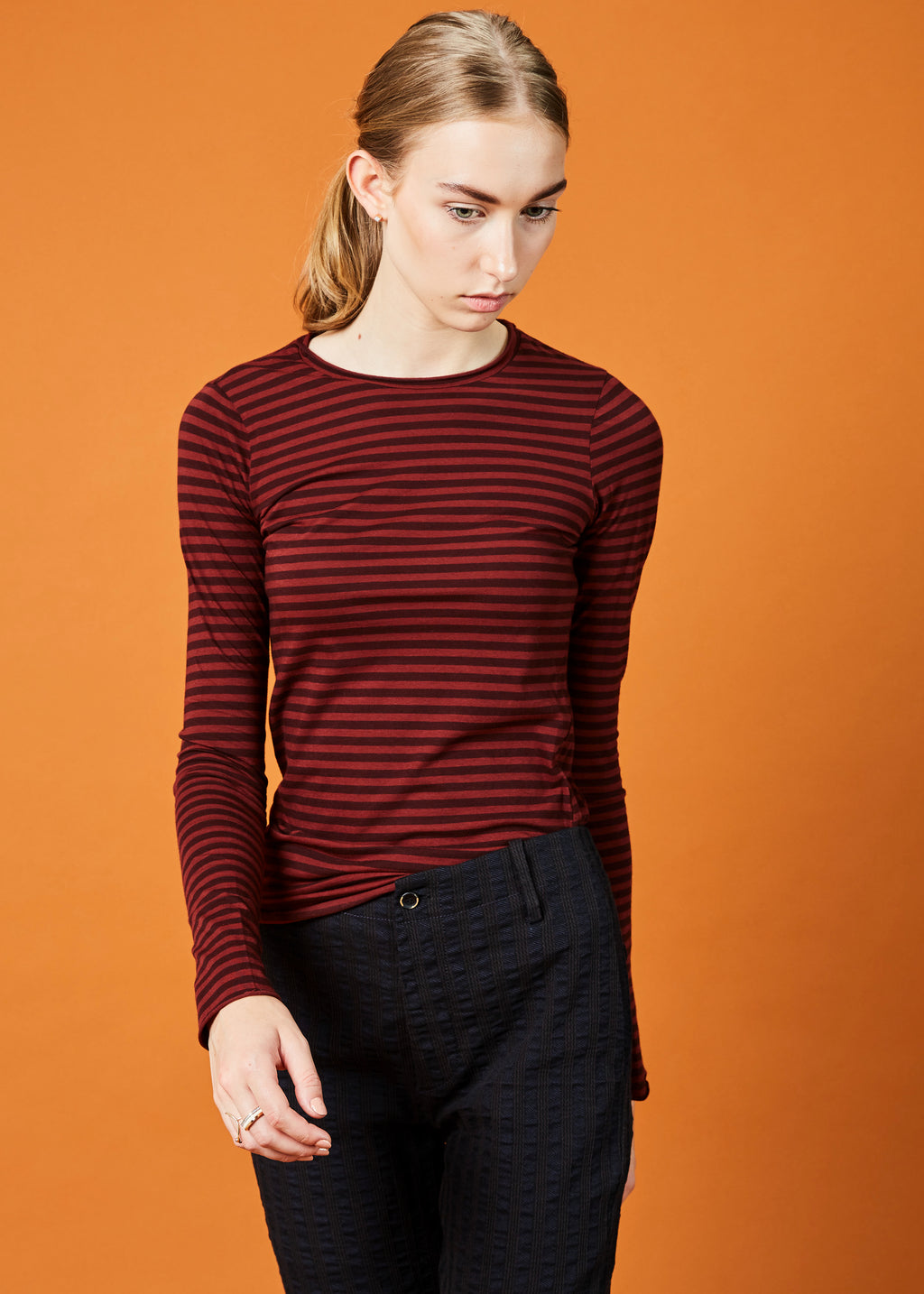 Striped Long Sleeve Sarix Tee