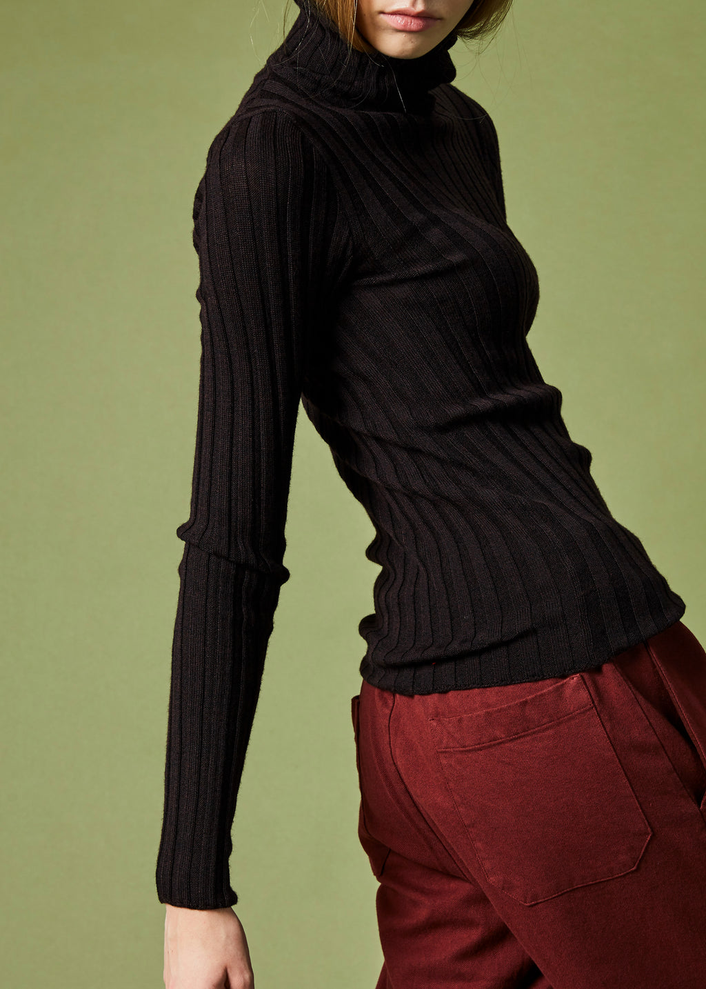 Nisa Ribbed Turtleneck