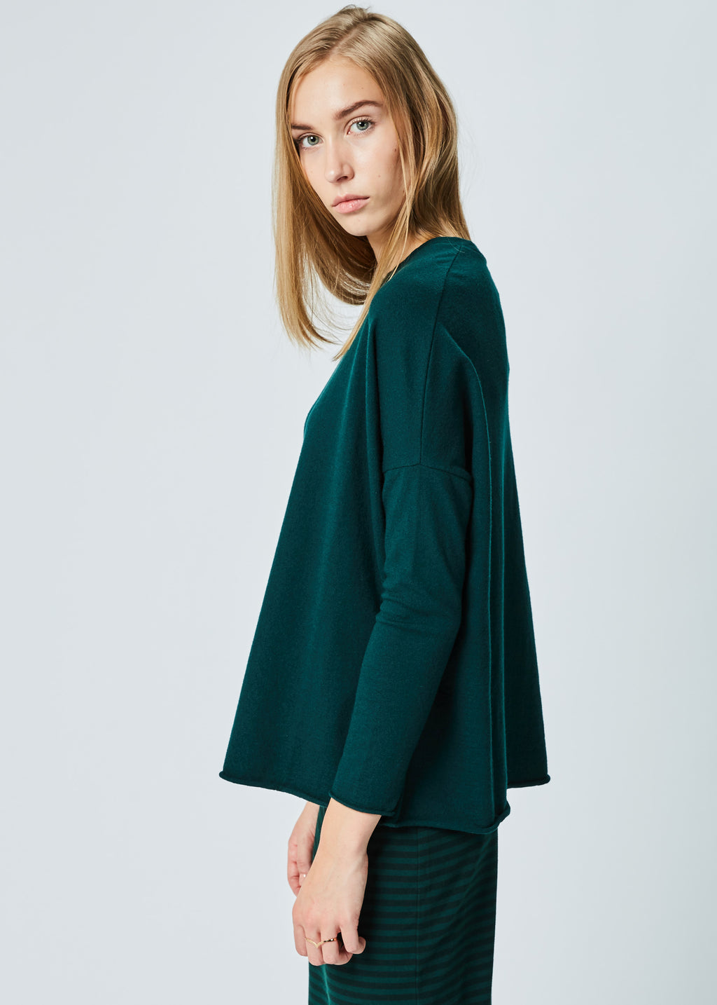 Aloe Drop-Shoulder Wool Sweater