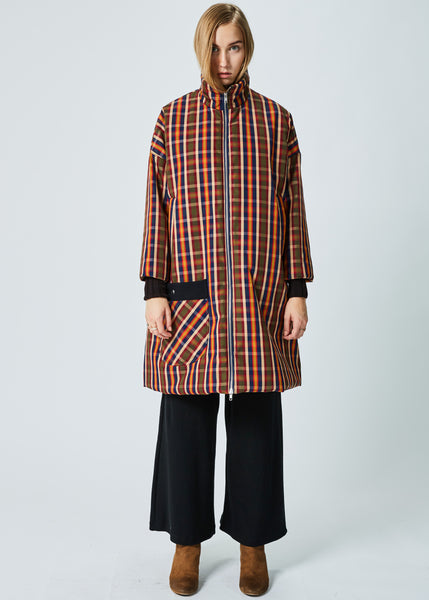 Insulated Plaid Overcoat
