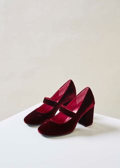 Velvet Mary Jane Heel