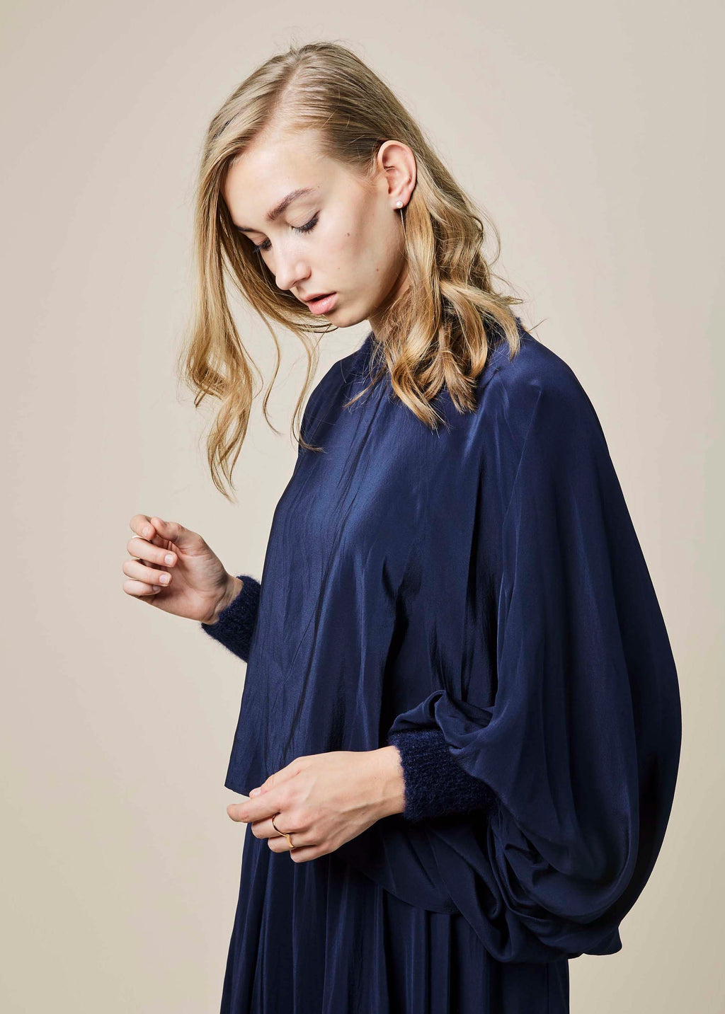 Silk Crepe Parachute Top