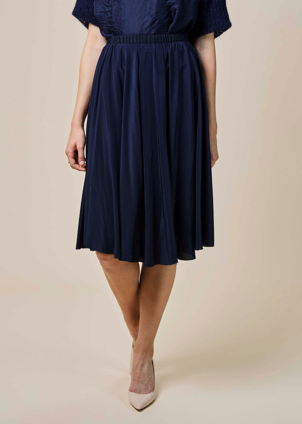 Silk Crepe Circle Skirt