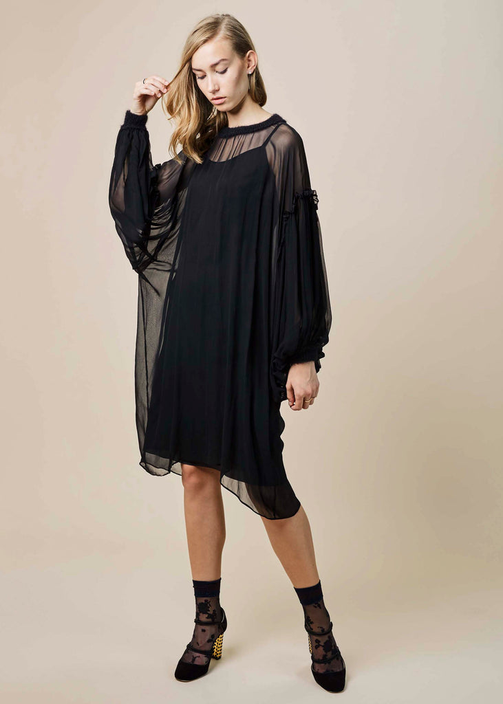 Chiffon Poet Dress with Slip