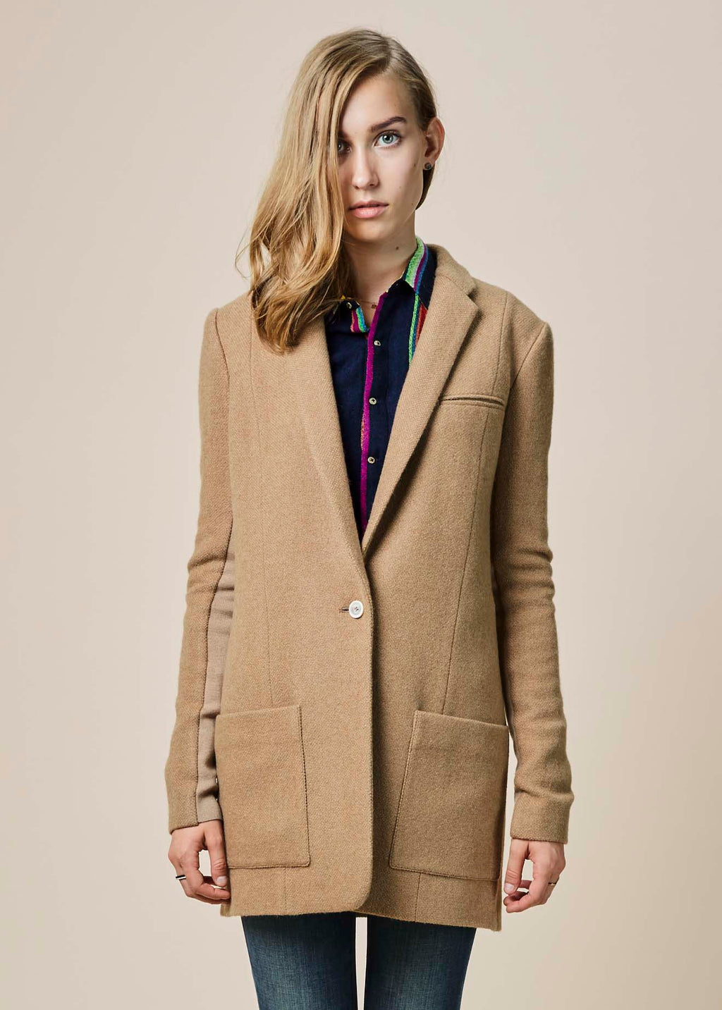Camel Hair Long Jacket