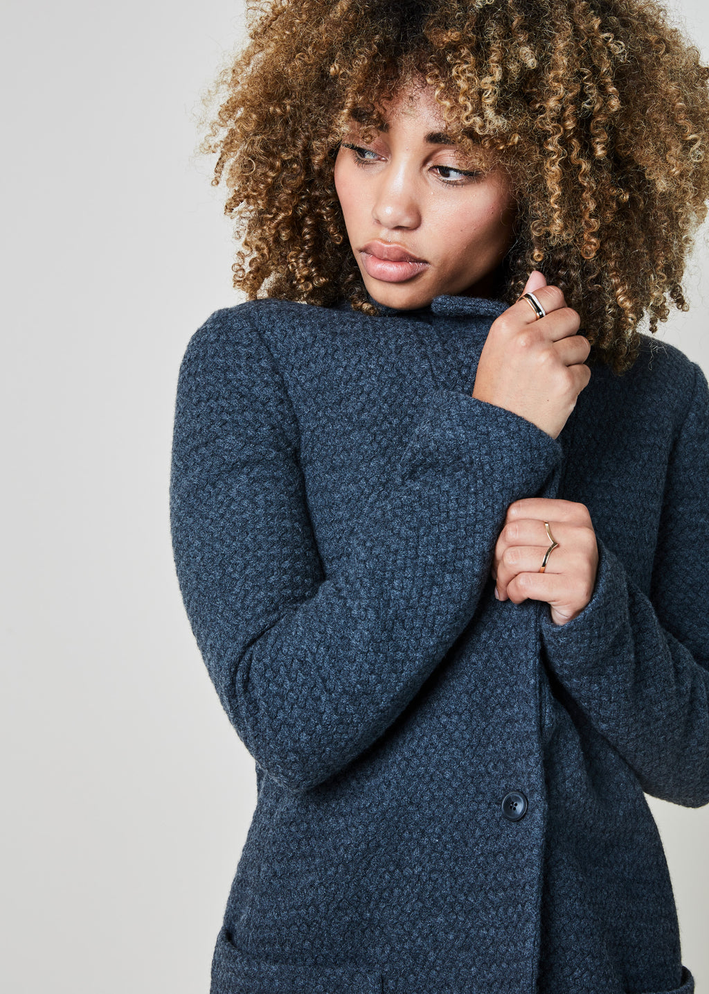 Basket Stitch Knit Jacket