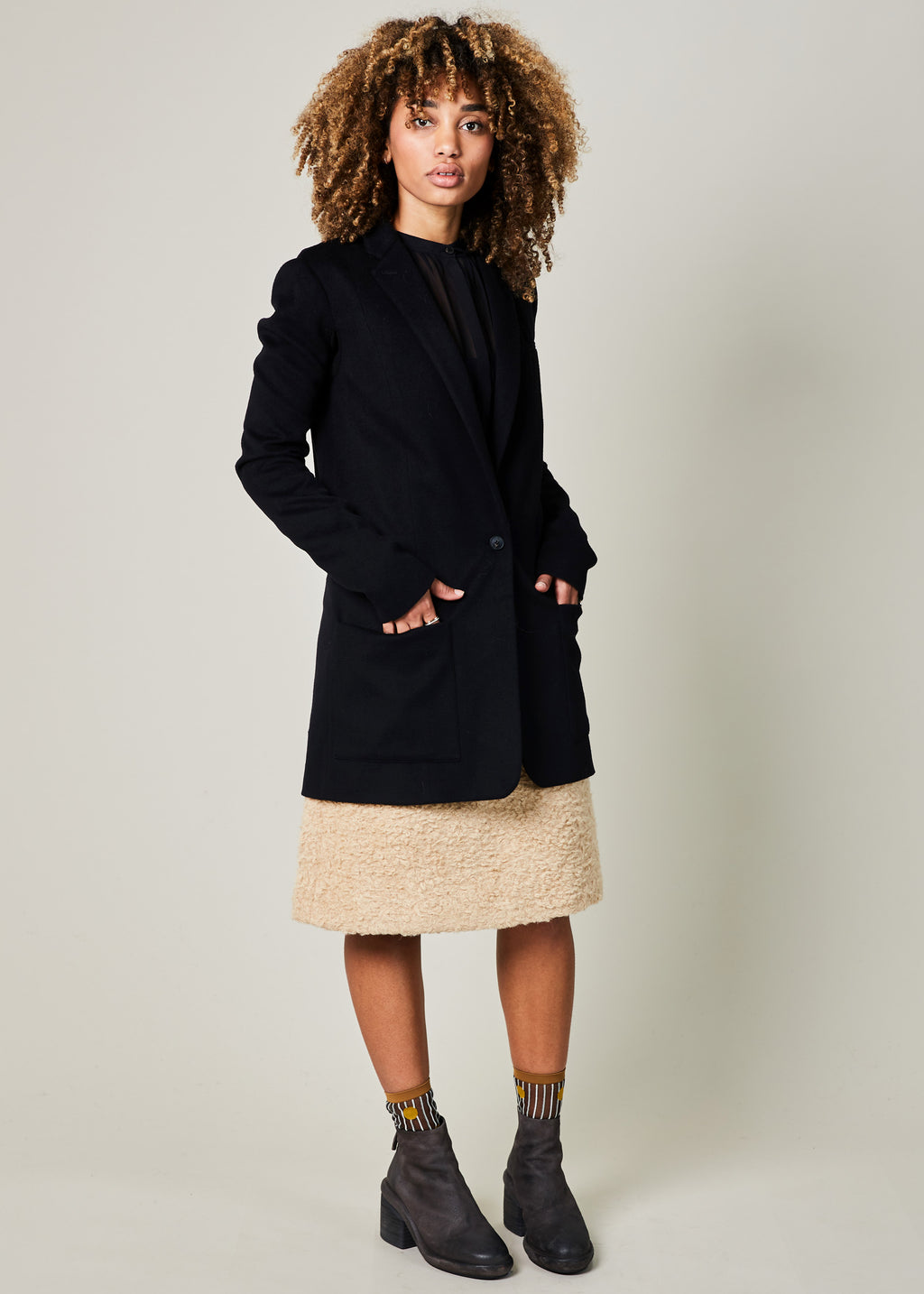 Wool and Cashmere Long Jacket