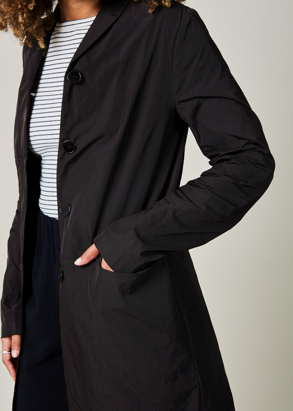 Lightweight Four Button Coat