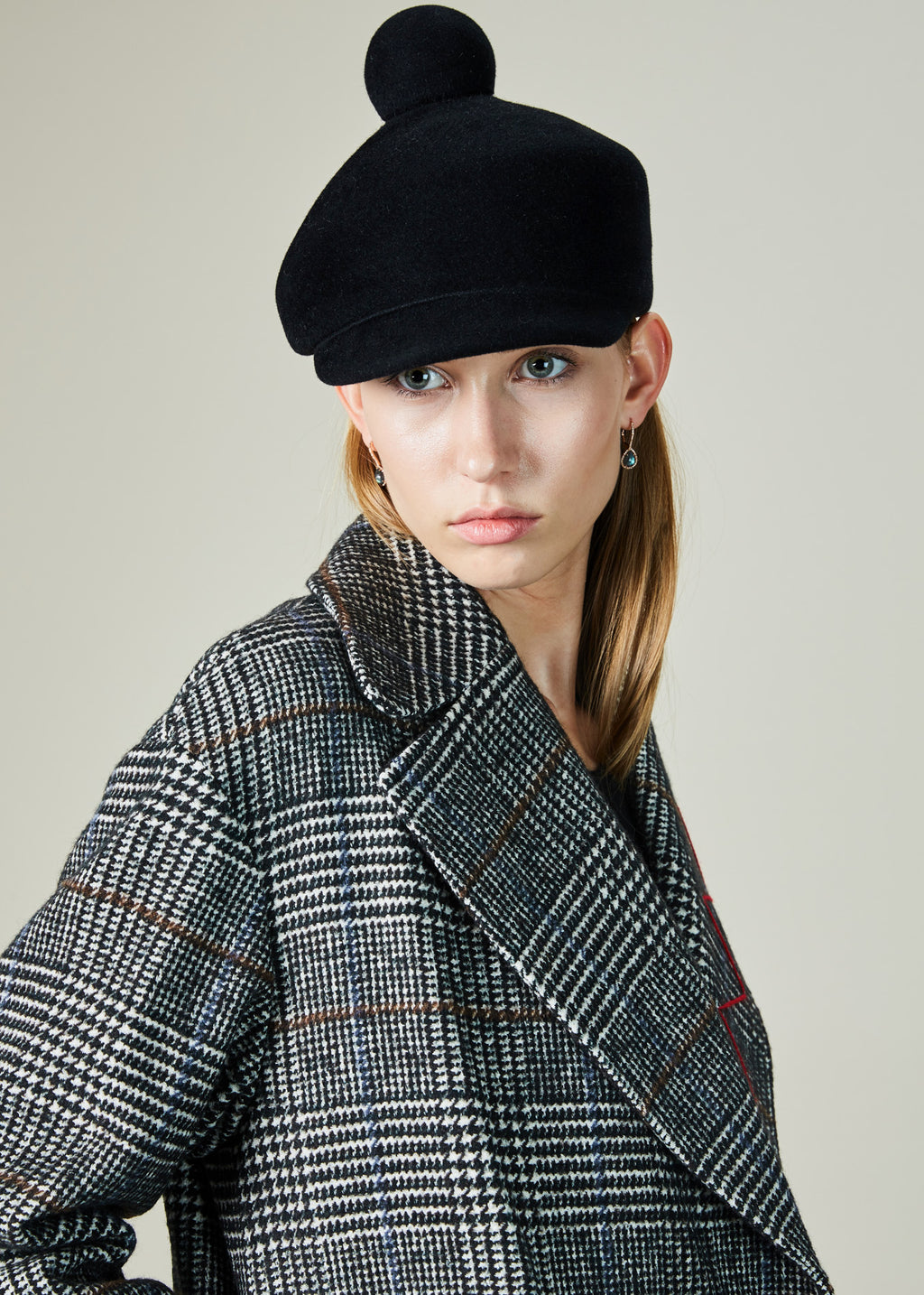 Plaid Houndstooth Coat